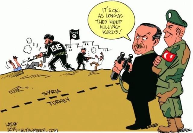 erdogan en la frontera con siria